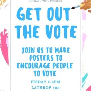 Get Out The Vote Poster Making Event
