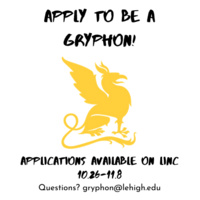 Gryphon Applications are Open!  Oct. 26 through Nov. 8