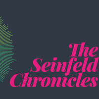 """Grey background with pink text that says """"The Seinfield Chronicles"""""""