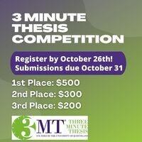 3MT Competition Registration Deadline