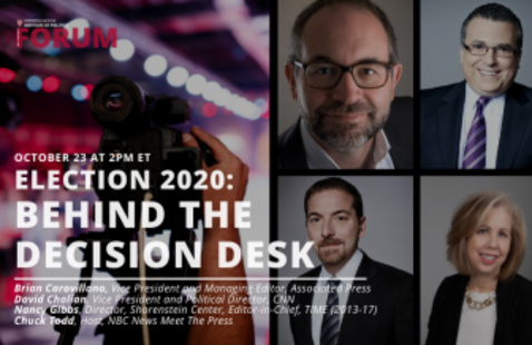 Behind the Decision Desk banner with speakers