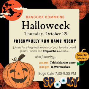 Hancock Halloweek: Game Night