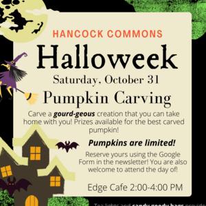 Hancock Halloweek: Pumpkin Carving