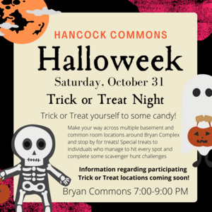 Hancock Halloweek: Trick or Treat Night