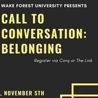 Call to Conversation:  Belonging
