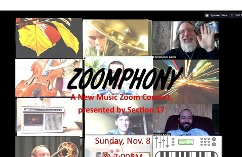 ZOOMPHONY: A New Music Zoom Concert, performed by Section 17 (UND's New Music Ensemble)