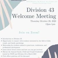 APA Division 43 LA   Welcome Meeting