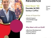 Entrepreneurs in Residence: Nick Bayer '00, Founder and Chief Executive Officer, Saxbys