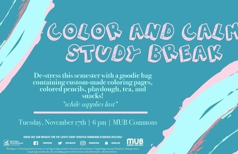 Color and Calm Study Break with MUB Board