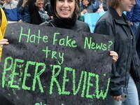"Image credits: ""Hate fake news? Try peer review please"" by afagen is licensed under CC BY-NC-SA 2.0"