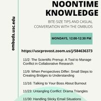 Noontime Knowledge: Conflict Management Tips With the Ombuds Office