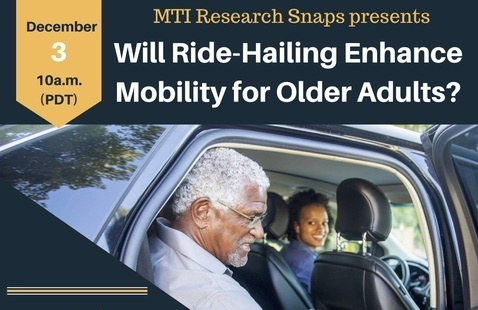 """MTI Research Snaps: """"Will Ride-hailing Enhance Mobility for Older Adults?"""""""