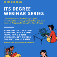 ITS New and Continuing Students Webinar Session