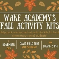 Wake Academy's Fall Activity Kits: Packing Event