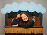 LIZ JOYCE & A COUPLE OF PUPPETS Minkie's Halloween Adventure