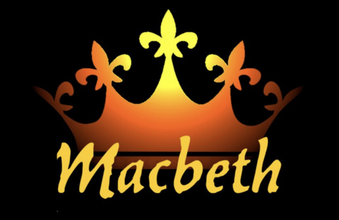 "Clip art of a crown and the word ""Macbeth"""