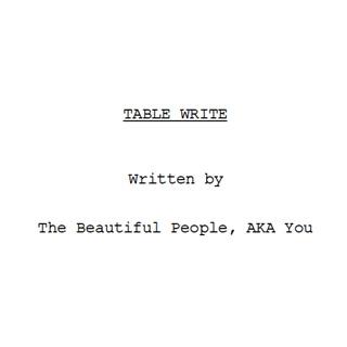 Table Write