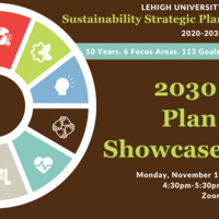 Lehigh Sustainability Strategic Plan Showcase: 10 Years, 6 Focus Areas, 113 Goals