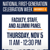 National First-Gen Celebration: Faculty, Staff, and Alumni Panel