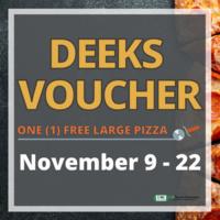 Deek's Pizza Voucher