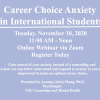 Career Choice Anxiety in International Students