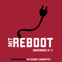 Black electric cord, red background. MIT Reboot November 2-11