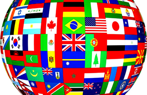 collage of country's flags