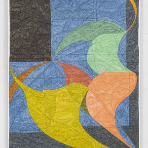 """""""Three Sheets to the Wind"""", 2020, pigment and silica on linen, 66 x 54 inches"""