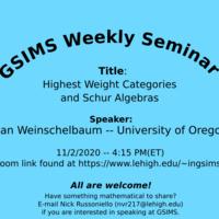 Graduate Student Intercollegiate Mathematics Seminar