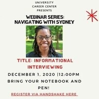 Webinar Series: Navigating with Sydney, Informational Interviewing