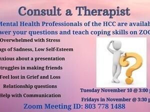 Consult a Therapist
