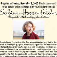 My Brilliant Pen Pal: Sabine Hossenfelder