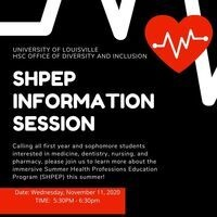 Summer Health Profession Education Program (SHPEP) Information Session