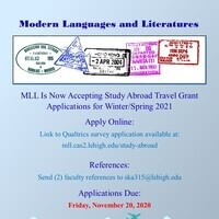 Modern Languages and Literatures Study Abroad Travel Grant