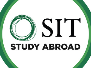 Photo depicts green SIT Study Abroad logo.