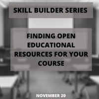 Finding Open Educational Resources for Your Courses