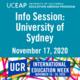 UCEAP Info Session: University of Sydney