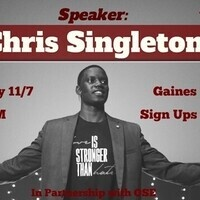CAB presents...Speaker: Chris Singleton
