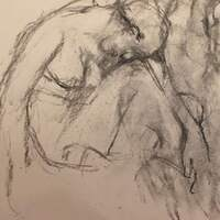 Carol Heft, Figure #3, graphite on paper, 2020
