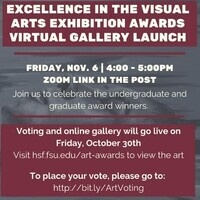 Voting is Open! Excellence in the Visual Arts! - Deadline to Vote-Friday, November 6th at 12:00 PM