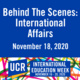 Behind the Scenes at International Affairs - International Education Week 2020