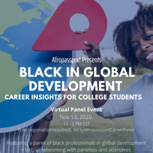 BLACK IN GLOBAL DEVELOPMENT - CAREER PANEL