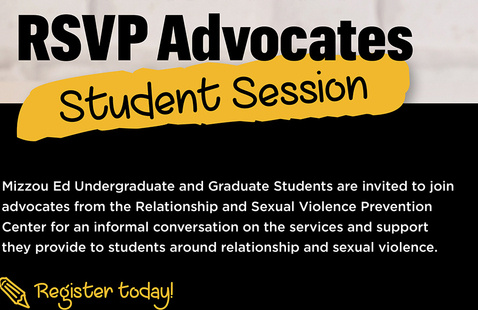 Coffee with the RSVP Advocates - Student Session