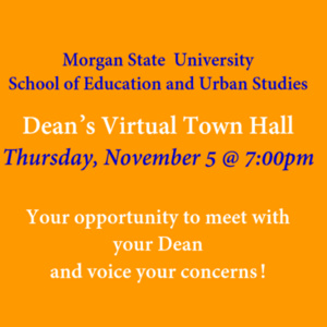 SEUS Dean's Virtual Town Hall, November 5 @ 7:00pm
