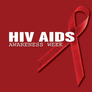 HIV awareness red ribbon