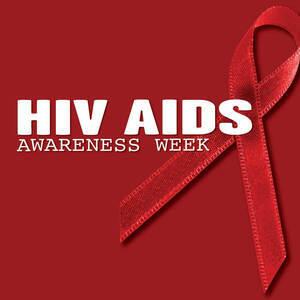 HIV awareness red ribbon