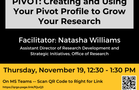 CHSS Faculty Webinar: Creating and Using Your PIVOT Profile to Grow Your Research