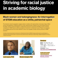 """""""Black women and belongingness: An interrogation of STEM education as a white, patriarchal space"""""""