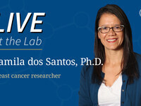 Live at the Lab: Camila dos Santos, Ph.D.