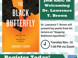 """""""Mapping Baltimore Apartheid"""" with Dr. Lawrence Brown"""